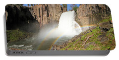 Double Rainbow Falls Portable Battery Charger by Adam Jewell