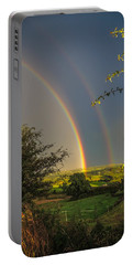 Double Rainbow Over County Clare Portable Battery Charger
