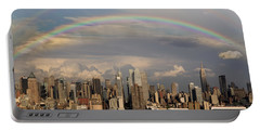 Double Rainbow Over Nyc Portable Battery Charger