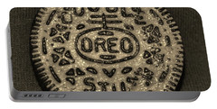 Double Stuff Oreo In Sepia Negitive Portable Battery Charger by Rob Hans