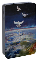 Doves Portable Battery Charger by Michael Creese