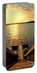 Down To The Fishing Dock - Lake Of The Ozarks Mo Portable Battery Charger by Debbie Portwood