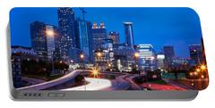 Downtown Atlanta At Dusk Portable Battery Charger