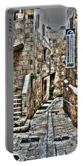 Portable Battery Charger featuring the photograph Downtown In Jerusalems Old City by Doc Braham