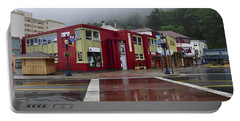 Portable Battery Charger featuring the photograph Downtown Juneau On A Rainy Day by Cathy Mahnke