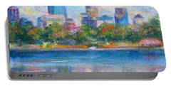 Downtown Minneapolis Skyline From Lake Calhoun Portable Battery Charger