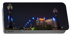 Downtown Providence At Night Portable Battery Charger