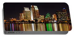 Portable Battery Charger featuring the digital art Downtown San Diego by Gandz Photography