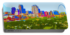 Downtown St. Louis From The Southwest Abstract Portable Battery Charger