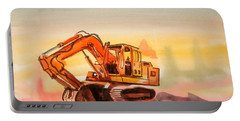 Dozer In Watercolor  Portable Battery Charger