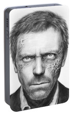 Dr. Gregory House - House Md Portable Battery Charger by Olga Shvartsur