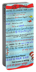 Dr Seuss - Quotes To Change Your Life Portable Battery Charger