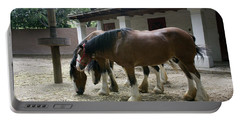 Draft Horses Portable Battery Charger by Lynn Palmer
