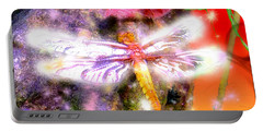 Portable Battery Charger featuring the digital art Dragonfly by Daniel Janda