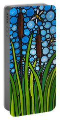 Dragonfly Pond By Sharon Cummings Portable Battery Charger