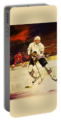 Drama On Ice Portable Battery Charger by Al Brown