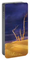 Dramatic Light Strikes The Sand Dunes Portable Battery Charger