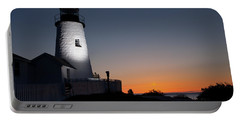 Dramatic Lighthouse Sunrise Portable Battery Charger