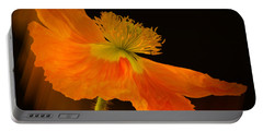 Dramatic Orange Poppy Portable Battery Charger by Don Schwartz