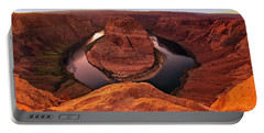 Portable Battery Charger featuring the photograph Dramatic River Bend by David Andersen