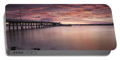 Drawbridge At Dusk Portable Battery Charger by Fran Gallogly