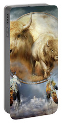 Dream Catcher - Spirit Of The White Buffalo Portable Battery Charger
