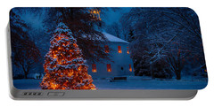 Christmas At The Richmond Round Church Portable Battery Charger by Jeff Folger