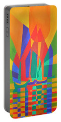 Portable Battery Charger featuring the painting Dreamboat by Tracey Harrington-Simpson