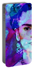 Portable Battery Charger featuring the painting Dreaming Of Frida - Art By Sharon Cummings by Sharon Cummings