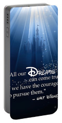 Portable Battery Charger featuring the digital art Dreams Can Come True by Nancy Ingersoll