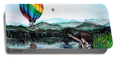 Portable Battery Charger featuring the painting Dreams Do Come True by Shana Rowe Jackson