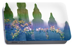 Portable Battery Charger featuring the photograph Dreams Of A Picket Fence by Holly Kempe