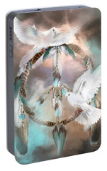 Dreams Of Peace Portable Battery Charger by Carol Cavalaris
