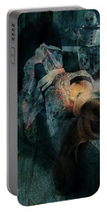 Portable Battery Charger featuring the digital art Dreamweaver Urban Fantasy by Galen Valle