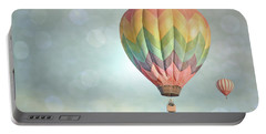 Dreamy Balloon Pair Sky Portable Battery Charger by Andrea Hazel Ihlefeld