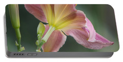 Portable Battery Charger featuring the photograph Dreamy Daylily by Patti Deters