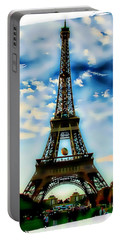 Dreamy Eiffel Tower Portable Battery Charger by Kathy Churchman