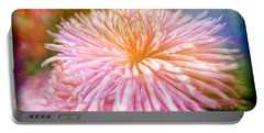 Dreamy Pink Chrysanthemum Portable Battery Charger