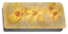Dreamy Yellow Coreopsis Portable Battery Charger