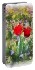 Dressed In Red  Portable Battery Charger by Kerri Farley