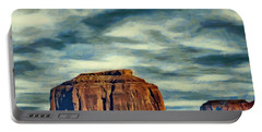 Drifting Over Monument Valley Portable Battery Charger by Jeff Kolker