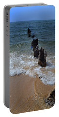 Driftwood And Sea Foam Beach Portable Battery Charger