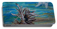 Driftwood On Lake Huron Portable Battery Charger