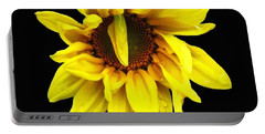 Portable Battery Charger featuring the photograph Droops Sunflower With Oil Painting Effect by Rose Santuci-Sofranko