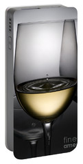 Drops Of Wine In Wine Glasses Portable Battery Charger
