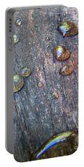 Drops On Wood Portable Battery Charger