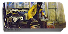 Portable Battery Charger featuring the photograph Drumma Man II by Kelly Awad