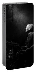 Drummer Portrait Of A Muscian Portable Battery Charger