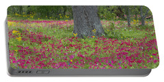 Portable Battery Charger featuring the photograph Drummonds Phlox And Crown Tickweed Central Texas by Dave Welling