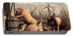 Drunken Pigs Portable Battery Charger